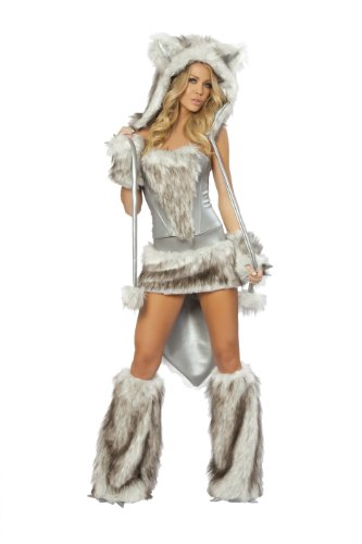 Sexy Fur Big Bad Wolf Costume - LARGE