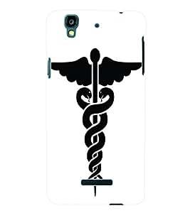Fuson 3D Printed Doctor Logo Designer Back Case Cover for Yu Yureka - D704