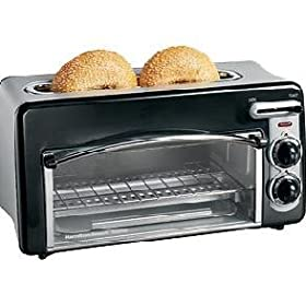 "New Hamilton Beach Toastation Two-Slice Toaster & Oven 1.5"" Wide Top Slot Removable Crumb Tray"