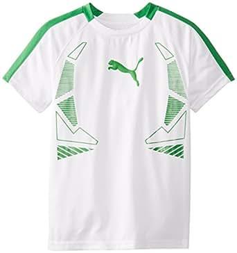 Puma Big Boys 39 Geometric T Shirt White Small