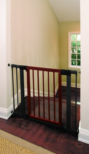 Munchkin Wood And Steel Designer Gate Dark Wood Silver