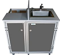 Hot Sale Monsam PRO-01 Propane Powered Self Contained Portable Sink, Grey