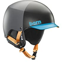 Bern Unlimited Baker EPS Matte Finish Hat Style Snow Helmet with Black Liner, Grey/Blue, Large/X-Large