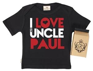 SR - PERSONALISED I Love Uncle Paul Baby T-Shirt - 100% Bio-algodón - en caja de regalo
