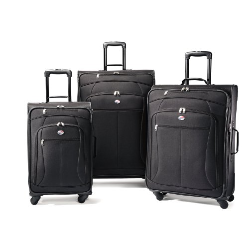 American Tourister Luggage AT Pop 3 Piece Spinner Set, Black, 29/25/21 image