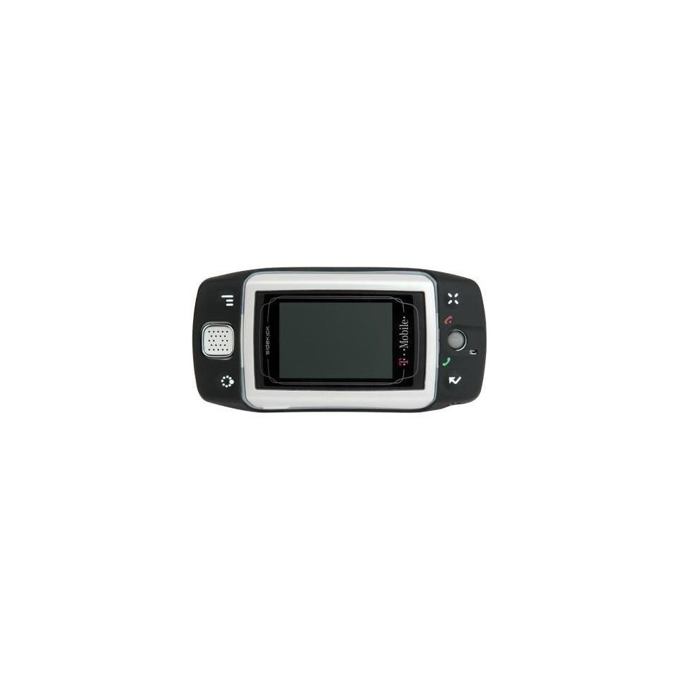 T Mobile Sidekick ID myFaves Premium Black Silicone Skin Case Cover