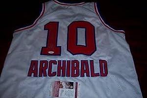 Nate Archibald Autographed Jersey - Sacramento Kings hof Jsa coa - Autographed NBA...
