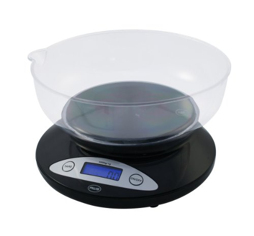 American Weigh Scales American Weigh 5KBOWL 5Kgm Digital Kitchen Scale with Removable Bowl, Black