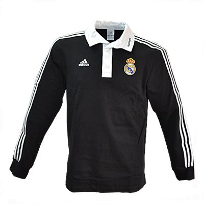 boutique du supporter maillots polo manches longues adidas real madrid noir t l. Black Bedroom Furniture Sets. Home Design Ideas