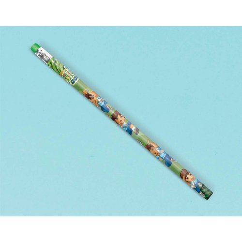 "Amscan Cool Diego's Biggest Rescue Pencil Birthday Party Favor (12 Piece), 7-3/4"", Green - 1"