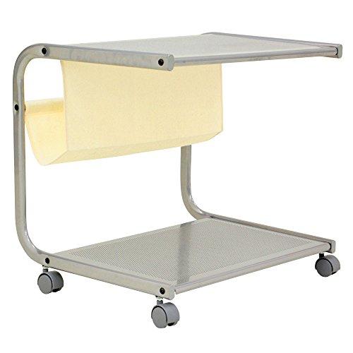サイドテーブル 50cm キャスター付き ミニテーブル ナイトテーブル プリンター台 ベッドサイド 収納付き 机