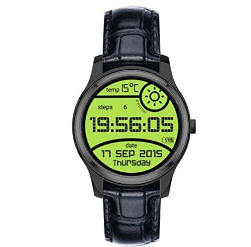 "Lincass Smartwatch Android4.4 3G Smart watch MTK6572 1.3""IPS 512MB RAM 4Gb ROM GPS AGPS 1.2G Dual Core Support Wifi Hands-free Gravity Sensor Fitness Tracker (Black)"