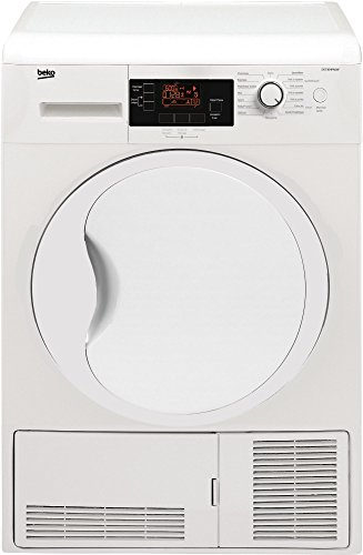 Beko DS7304 PAOW Sèche Linge Condensation 7 kg Départ Différé, sonde électronique, Affichage du Temps Restant, Ecran