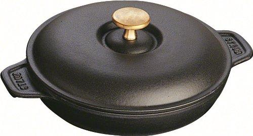gilalole staub fonte 1332025 assiette chaude ronde noir mat 20 cm. Black Bedroom Furniture Sets. Home Design Ideas