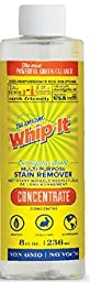 Whip-it Concentrate Multi-purpose Stain Remover 8 Oz. - Makes 32 Oz Professional Strength Cleaner