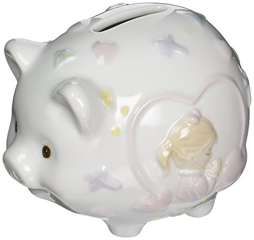 Cosmos 2035 Fine Porcelain Praying Boy Piggy Bank, 4-1/2-Inch