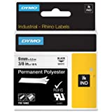 DYMO RhinoPRO Industrial-Strength Permanent Adhesive Fabric Label Tape, 3/8-inch, 18-foot Cassette, White (18482)