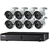 Lorex by FLIR LHA2000 16-Channel HD MPX DVR with 8x LAB223B 1080p Weatherproof 130' IR Camera and Pre-Installed 2TB HDD, FLIR Secure Connectivity (Color: WHITE/BLACK)