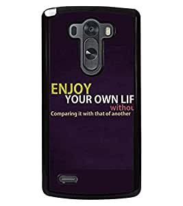PRINTSWAG QUOTE Designer Back Cover Case for LG G3