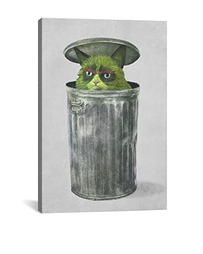 Terry Fan Grouchy Cat Gallery-Wrapped Canvas Print