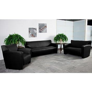 3pc Modern Leather Office Reception Sofa Set - FF-0428-12-S1