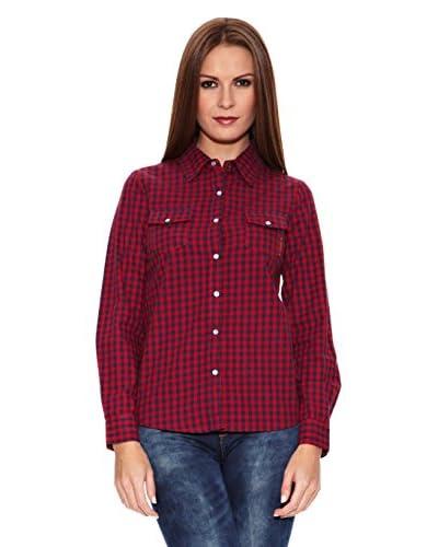 Riverside Camisa Mujer Dolores Rojo / Azul Marino