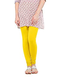 Perfect Collections Women Cotton Legging (Color: Yellow, Size: Free Size)