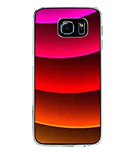 Printvisa Multicoloured Curved Pattern Back Case Cover for Samsung Galaxy S6 Edge+ G928::Samsung Galaxy S6 Edge Plus G928F