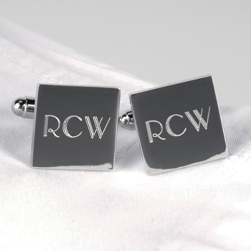 Cathys Concepts 1103S Silver Square Cuff Links