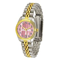 """Connecticut Huskies NCAA Mother of Pearl """"Executive"""" Ladies Watch"""
