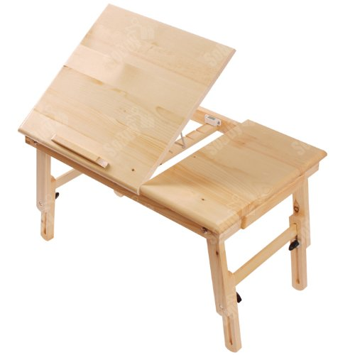 Review SoBuy Folding Wood Food Breakfast Table, Bed Tray Table Desk, Foldable Laptop Table, Folding ...