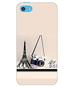 PrintDhaba MULTI THEME D-6117 Back Case Cover for APPLE IPHONE 5C (Multi-Coloured)