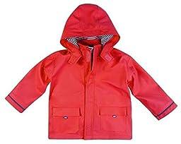 JoJo Maman Bebe Unisex-Baby Newborn Fisherman\'s Jacket, Red, 6-12 Months