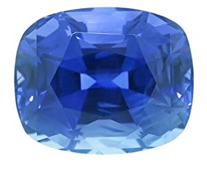 Rare Gem - Unheated Blue Sapphire Natural Color Gem for SALE,Cushion Cut, 15.96 carats
