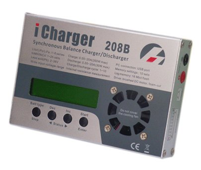 LiPo Balance Battery Charger and Discharger (iCharger 208B+) 1S-8S packs up to 20 amp charge rate Charge and discharge LiPo/LiIo/LiFe/NiCd/NiMH types of RC and other Batteries