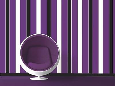 Felicity Purple Stripe Wallpaper from Direct Wallpapers