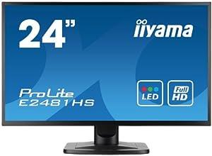 Iiyama E2481HS-B1 Ecran PC sans tuner LED 24'' 1920 x 1080 Noir