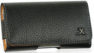 Black Napa Leather Case Pouch For Samsung Brightside