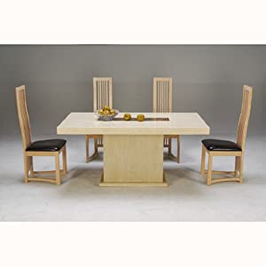 Celine Marble Dining Table With 4 Chairs Kitchen Home