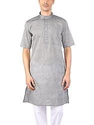 Rajubhai Hargovindas Grey Cotton (Kurta Half Sleeve)