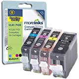 4 Cartouches d'encre Compatibles pour Imprimante Canon Pixma MP510 - Cyan / Jaune / Magenta / Noir- Avec Puce