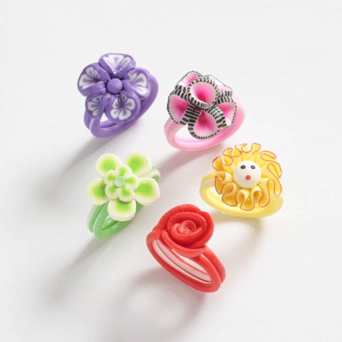 Flower Rings set of 4 Rings