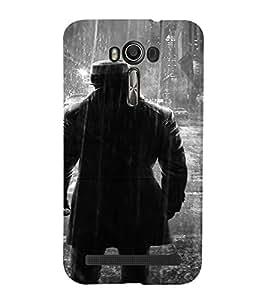 PrintVisa Man Rain BW Design 3D Hard Polycarbonate Designer Back Case Cover for Asus Zenfone 2 Laser ZE500KL