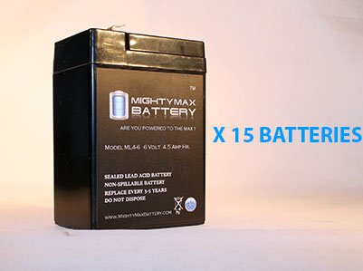6V 4000 Mah Ups Battery For Eagle Picher Cf6V4.5 - 15 Pack