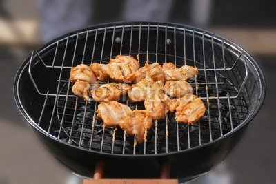 """Wallmonkeys Peel and Stick Wall Decals - Barbecue Grilled Chicken Breasts - 60""""W x 40""""H Removable Graphic"""
