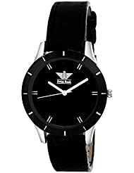 SwissRock Black Dial With Black Leather Strap Analogue Women's Watch - BLK_W_1