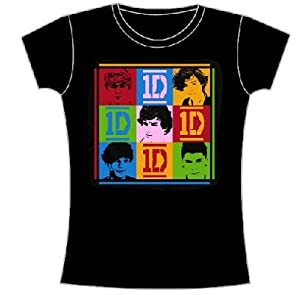 One Direction Squares Juniors Babydoll T-shirt