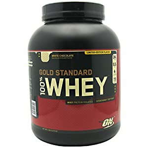 Optimum Nutrition 100% Whey Gold Standard, White Chocolate, 5 Pound