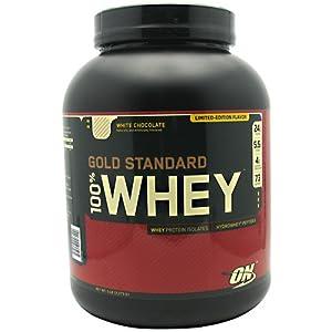 Optimum Nutrition 100% Whey Gold Standard, White Chocolate, 5 Pound