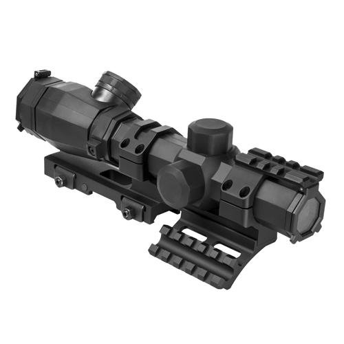 Ncstar Octagon 1.1-4X20 Scope/ P4 Sniper/ And Vism Vmsprb Mount Combo, BLACK SOCTP11420G/SPR hunting riflescope combo c4 12x50eg rifle scope